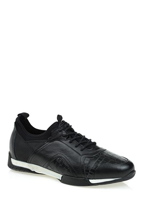D by Divarese %100 Deri Sneakers Ayakkabı Siyah